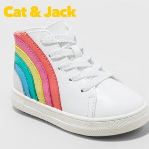 Cat & Jack baby Size 7 Musetta Rainbow High Tops